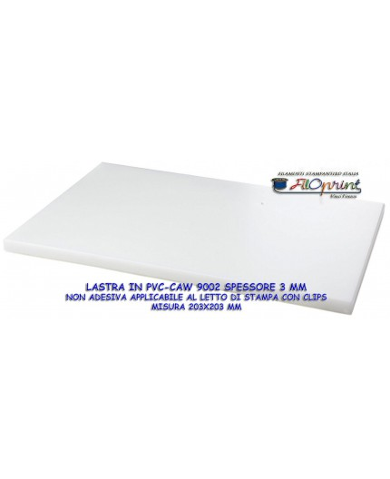 LASTRA PVC SPECIFICA PER STAMPA FILAMENTI IN PVC NO WARPING